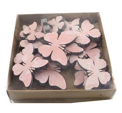 Schmetterlinge pink Streuteile 14 Stück Holz Schmetterling Tischdeko