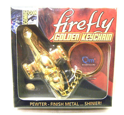QMX Serenity/Firefly Replica Gold Finish Metal Keychain- MIB!! SDCC Exclusive