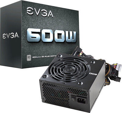EVGA - W1 Series 600W ATX 12V/EPS 12V 80 Plus Power Supply - Black