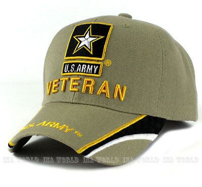 U.S. ARMY hat Military ARMY STRONG VETERAN Official Licensed Baseball cap- Khaki