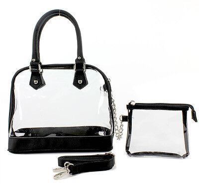 Clear PVC SMALL BOWLING BAG W/ DETACHABLE STRAP - Black Color - - Small Bowling Bag