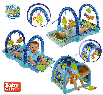 Baby Babies 3 in 1 Ocean Paradise Kick & Crawl Play Mat Arch Activity Gym 63505