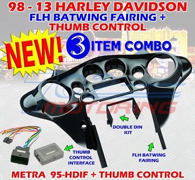 METRA 95-HDIF 1998 - 2013 HARLEY DAVIDSON FLH BATWING FAIRING DOUBLE DIN INSTALL