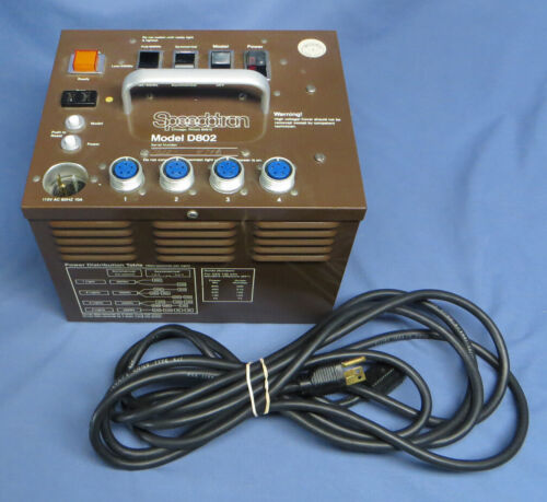Vintage Speedotron D802B Power Pack Brown Line w/Cord Tested EXC!