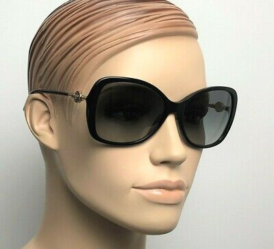 VERSACE OVERSIZED BUTTERFLY Women Sunglasses BLACK GREY GRADIENT 4303 GB1 11