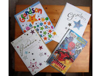 4 un-used, as-new Grandson birthday cards with envelopes. £3 lot or £1 each