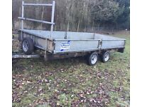 Ifor Williams flatbed trailer 14 Ivor trailor galvanised mini digger car van pickup