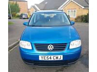 Volkswagen Touran S 1.6 MPV 5dr Petrol Manual (7 Seats) Blue 2004 **WARRANTED MILEAGE, history.