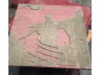 Red sparkle granite tiles 30x30cm