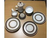 Denby Potter's Wheel or Russet 6x Dinner Plates, 4x Bowls, Gravy Boat, Coffee Pot
