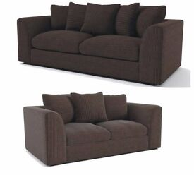 DYLAN JUMBO CORD BROWN 3+2 OR LH/RH CORNER SEATER SOFA OR SWIVEL CHAIR | EXPRESS DELIVERY ALL UK