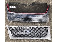 VW Golf MK5 GTI Front Bumper Grill & Lower Center Grill Trim Vent Brand New For Sale