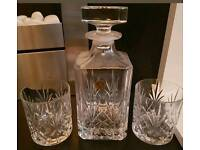 ROYAL CRYSTAL ROCK Al Piombo 24% Decanter and matching Glasses.
