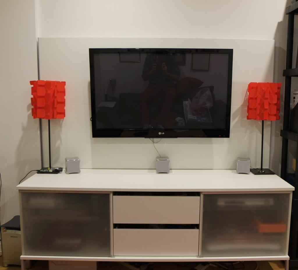 Tv board ikea  MUST GO - IKEA Tobo TV Unit with back board Panel with media ...