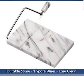 BRAND NEW MARBLE CHEESE BOARD WITH 3 WIRES
