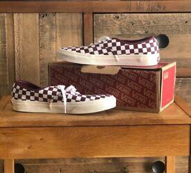 Vans Authentic Checkerboard Port Royal Marshmel Size 9