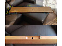 Solid Oak floating shelf - L1400mm x D270mm x H30mm(without brackets)