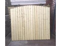 Bow Top Heavy Duty Pressure Treated Wooden Garden Fence Panels 🌲
