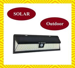 Waterproof Motion Sensor Solar LED Light for Outdoor (86 Led Light Bulbs) For Deck, Patio, Garden