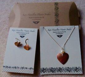 Kate Hamilton-Hunter Studio Necklace and Earring Set - Hearts