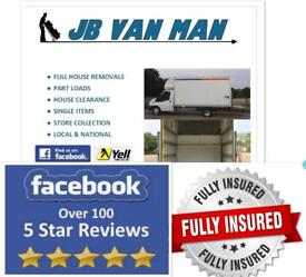 HOUSE MOVING COMPANY FULLY INSURED 5 STAR RATED VAN MAN AND HOUSE REMOVALS LARGE LUTON VAN