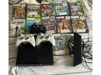 Xbox 360 with 3 controllers 11 games and Kinect £70