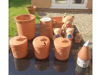 Terracotta kitchen storage/novelty ornaments