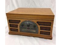 Crosley 2450-2t wooden retro turntable