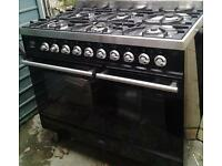 OPEN TO OFFERS ***** Britannia Range Cooker SI-10T6-SLX-K Black Gloss