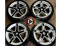 """18"""" Fox Racing alloys 5x114, 4 new matching tyres, excellent cond."""