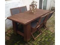 Industrial Style Garden Table & Chairs