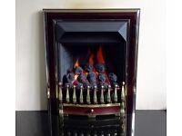 Valor Visage Fireslide 4.0 kw Coal Effect Inset Gas Fire ( Burgundy )
