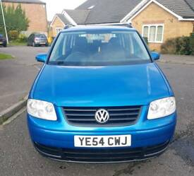 Volkswagen Touran S 1.6 MPV 5dr Petrol Manual (7 Seats) Blue 2004 **WARRANTED MILEAGE,with history.