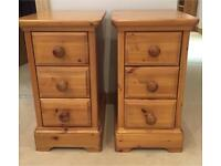 Pair of Pine Wood Bedside Tables