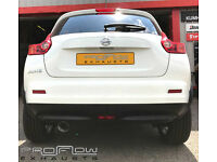 Proflow Exhausts Stainless Steel Back Box fitted to a Nissan Juke