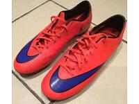 Men's Nike Mercurial football boots size 11.
