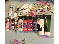 23 Tubes of Acrylic Paint Mostly New