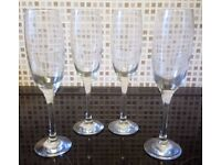 4 x Champagne Glasses [Kept as spares. No damage] £3 FOR ALL