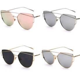 JOBLOT Ladies Aviator Cat Eye Mirrored Lense Sunglasses