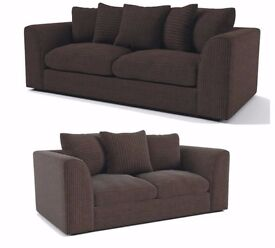 ** BEST DISCOUNTED PRICE ** = Brand New ITALIAN STYLE ORIGNAL JUBOO CORD FABRIC SOFAS + QUICK DROP