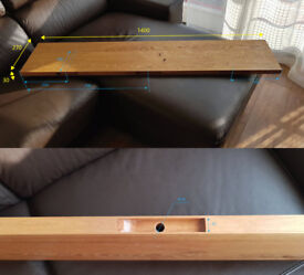 Solid Oak floating shelf - L1400mm x D270mm x H30mm (without brackets)