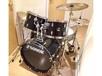 Sonor Force drum kit includes sticks, Cymbals, stool & fully tuned