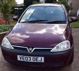 Vauxhall Corsa 1.2i 16V Elegance / 2003 / 3 Door Hatchback / Manual / Petrol / Low Mileage