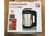Morphy Richards sauté n soup maker (Brand new in box and sealed)