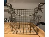 Wire Baskets Silver x2