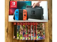 Nintendo Switch Neon + 1xTop Game Pick! Like New - Fast RM Special Next Day Delivery Available