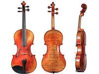 """Scott Cao Stv1500 Stradivarius """" Soil """" violin and Pro-tec case"""