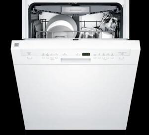 Save Up To $200 Select Kenmore Dishwashers! Kenmore Hybrid Stainless Steel Tub Dishwasher, White Exterior! More Options!