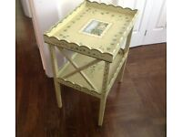 DECORATIVE HAND-PAINTED SIDE TABLE