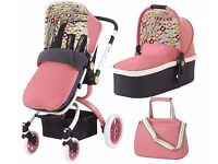 Cosatto Ooba Travel System in pink comes with Car Seat